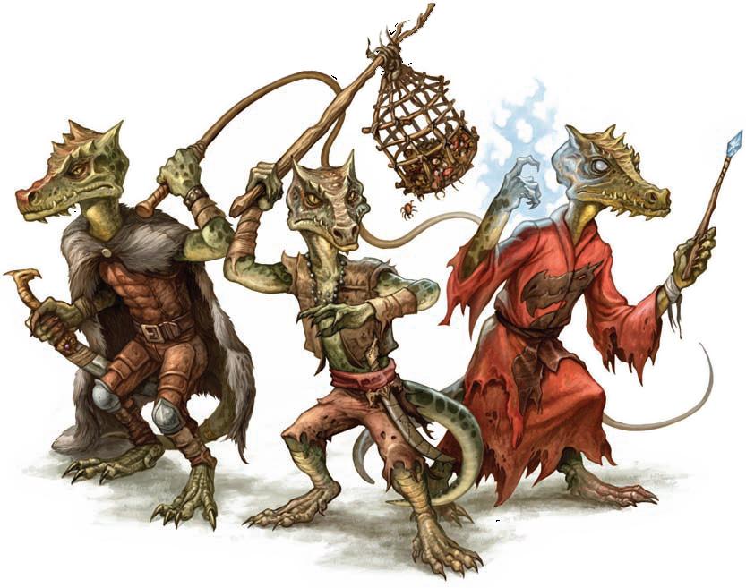 "I coboldi della D&D quarta edizione. Kobolds, as depicted in the article ""Creature Incarnations: Kobolds"" within Dragon 364.  http://wizards.com/default.asp?x=dnd/drcinc/20080620a"